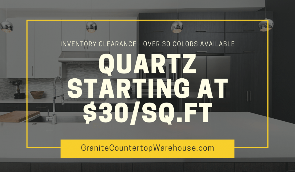 discounts on quartz countertops