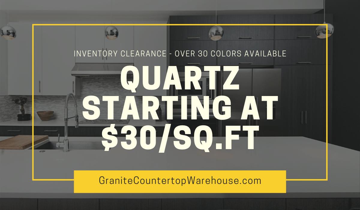 discounts on quartz countertops