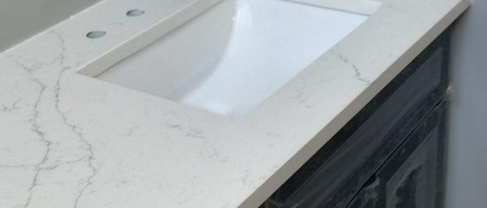 Project Profile Arctic Carrara Quartz In Alpharetta Ga Granite Countertop Warehouse