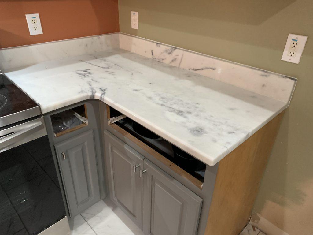 Shadow Storm Marble Kitchen Countertops in Aragon 3