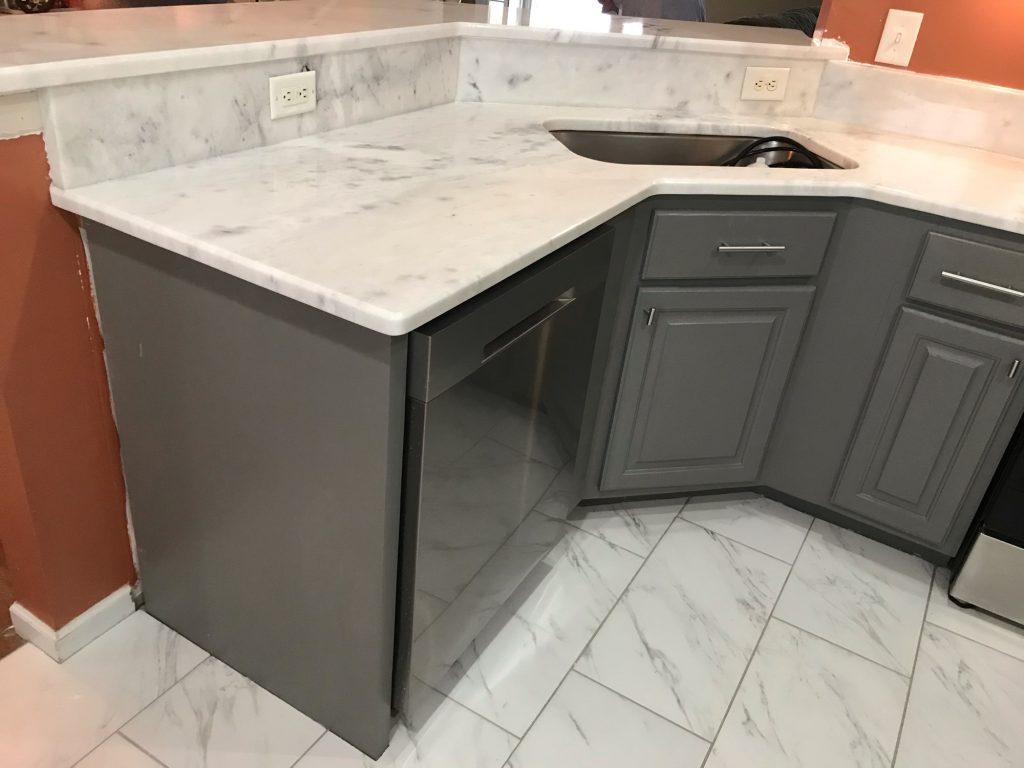 Shadow Storm Marble Kitchen Countertops in Aragon 4