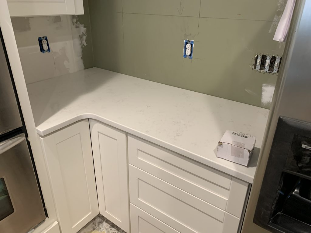 Bianco Carrara Quartz Countertops in Woodstock