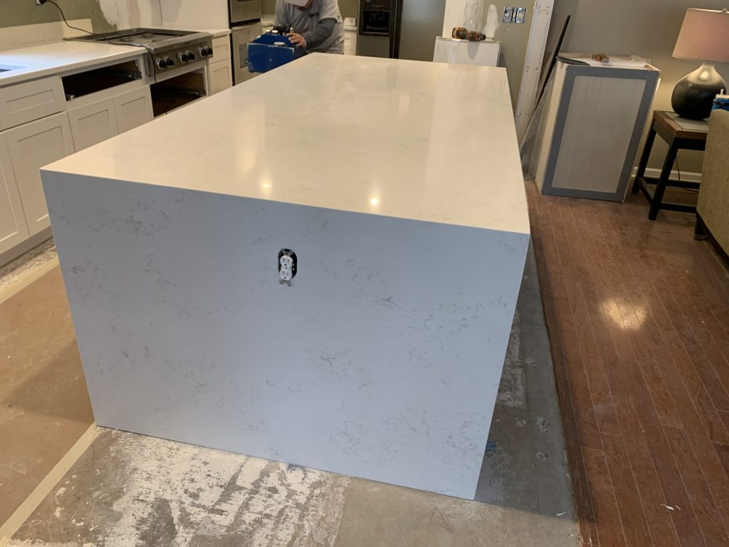 Bianco Carrara Quartz Countertops in Woodstock 2