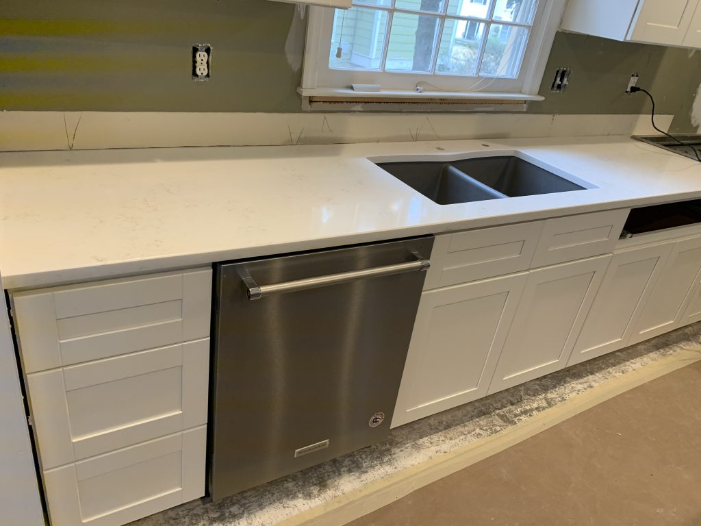 Bianco Carrara Quartz Countertops in Woodstock 4