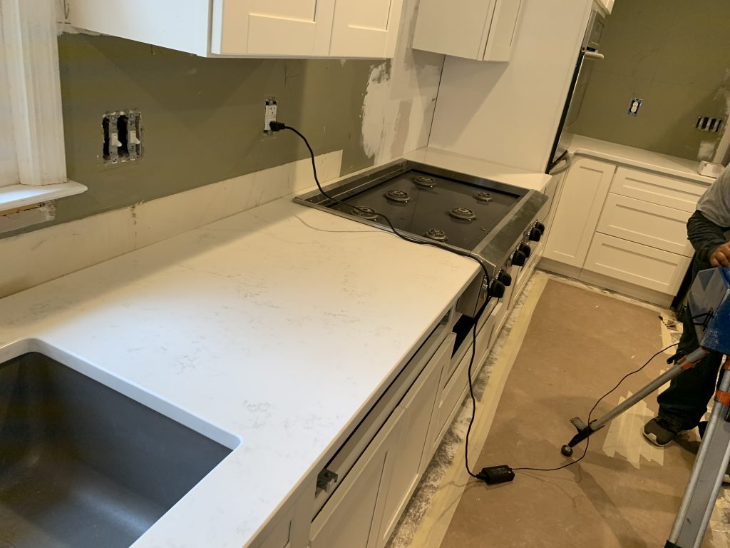 Bianco Carrara Quartz Countertops in Woodstock new