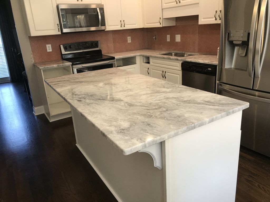 Shadow Storm Marble Kitchen Countertops in Dallas
