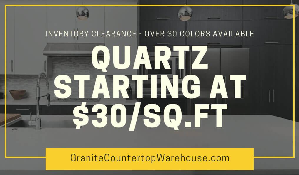 QUARTZ STARTING AT $30/SQ.FT