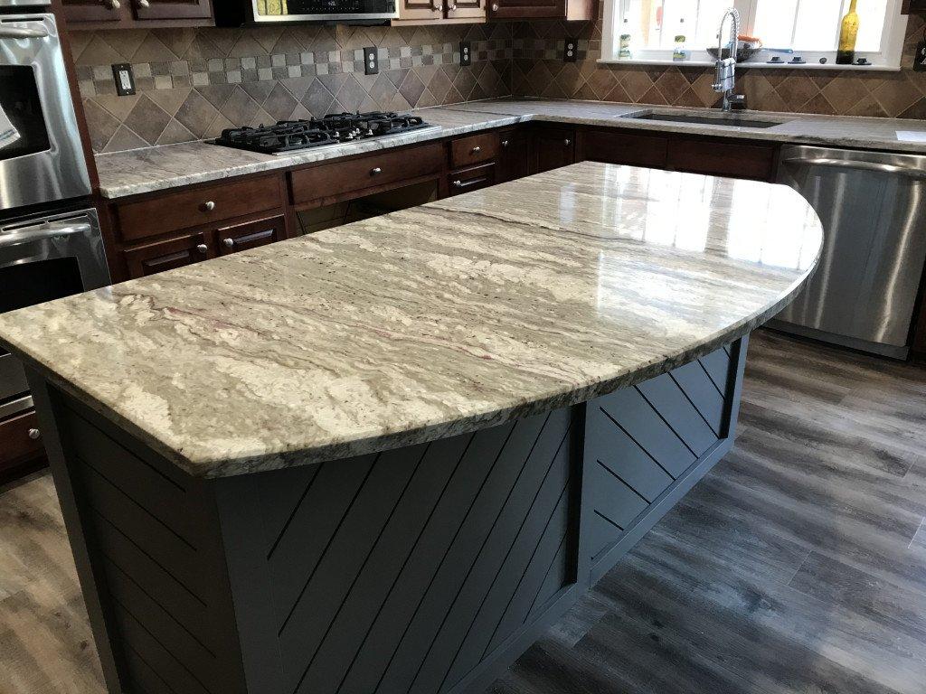 River White Granite Kitchen Countertops and Island